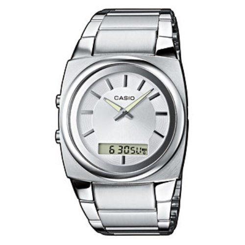 Casio MTF-111D-7AEF - Reloj analógico - digital de mujer de cuarzo con correa de acero inoxidable gris - sumergible a 100 metros: Amazon.es: Relojes