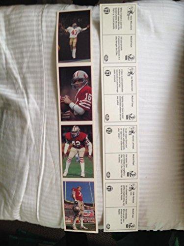 1985 Police 7-Eleven 49ers Football Card Set Uncut Sheet Joe Montana Ronnie Lott