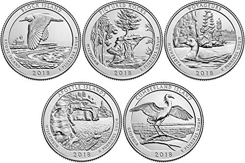 2018 P Complete Set of 5 National Park Quarters Uncirculated