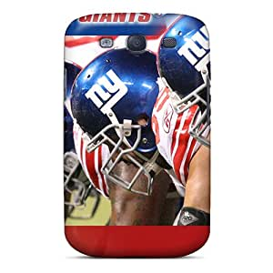 Scratch Resistant Hard Phone Cases For Samsung Galaxy S3 With Allow Personal Design Colorful New York Giants Pattern AlissaDubois