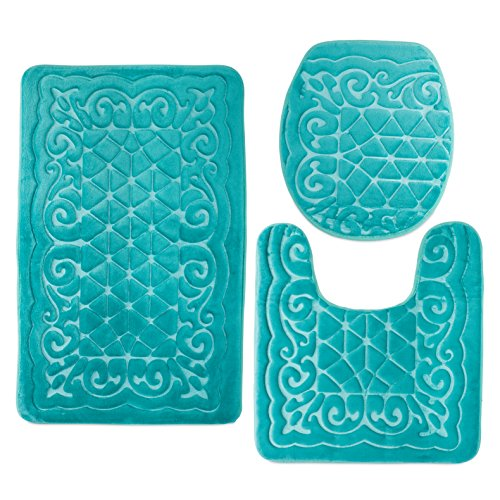 Bathroom Rug Mats Set 3 Piece