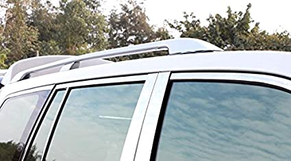 ITrims Silver Roof Rack Rails Bars Luggage Rails Cargo for Toyota Land Cruiser LC200 J200 2008-2016