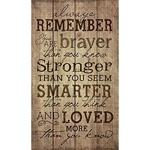 Always Remember You Are Stronger Than You Know 24 X 14 Wood Pallet Design Wall  Art Sign Plaque