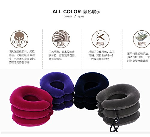 FM Inflatable air Pillow Neck Pain Cervical Traction Head Support Springs fire Device for Head The Back Shoulder Neck Pain Health