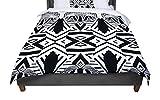 KESS InHouse Pom Graphic Design ''Africa'' Black White Queen Comforter, 88'' X 88''