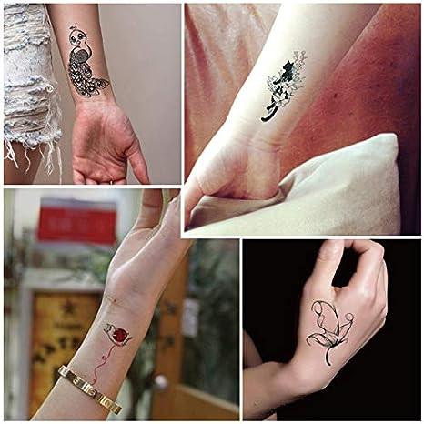 HXMAN 3 Unids Body Art Impermeable Temporal Tatuaje Pegatinas Gato ...