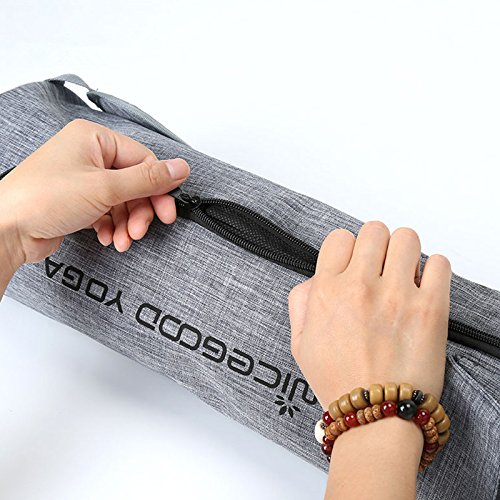 Large yoga mat bag 33 inch in Length with Pocket & Full Zipper Yoga Tote Yoga Mat Duffle Bag by Youngi (Image #3)