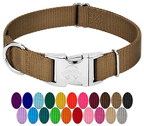 Country Brook Petz | Premium Nylon Dog Collar with Metal Buckle (Medium, 3/4