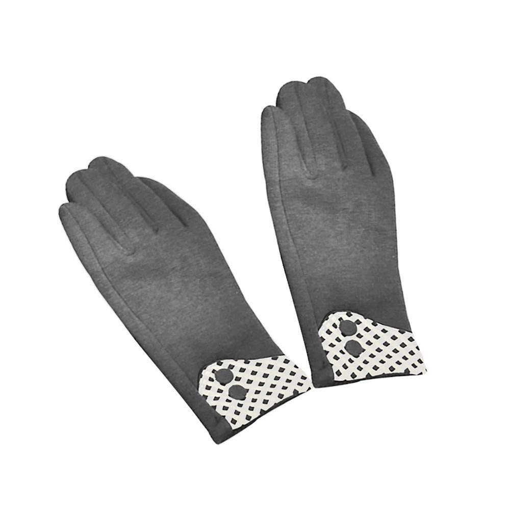 NUWFOR Adult Women Men Winter Hand Wrist Warmer Flip Cover Fingerless Gloves ?Gray,Free?