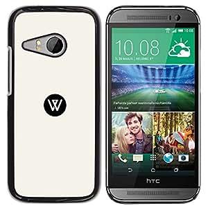 YOYOYO ( NO PARA HTC ONE M8 ) Smartphone Protección Defender Duro Negro Funda Imagen Diseño Carcasa Tapa Case Skin Cover Para HTC ONE MINI 2 M8 MINI - diseño blanco y negro, W