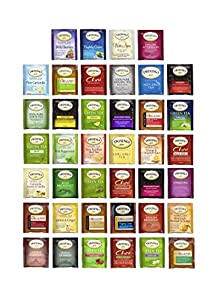 Twinings Tea Bags Sampler Assortment - 40ct with By The Cup Honey Stix