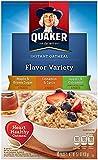 Quaker Instant Oatmeal Flavor Variety Pack (Maple Brown sugar, Cinnamon & spice, Apples & Cinnamon), 10 ct, 1.42 oz (3 Pack)