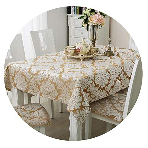 God of Fortune European Versailles Tablecloth Coffee Table Cloth Multi-Purpose Towel Table mat Party tablecloths Cover Towel,Yellow,140200cm