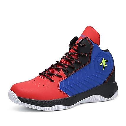 7fb6d019d9eb0 Amazon.com: Hy Men's High-top Basketball Shoes PU Spring/Fall ...