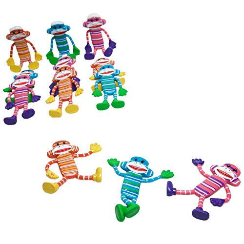 Bendable Monkey 12 Pack assorted colors