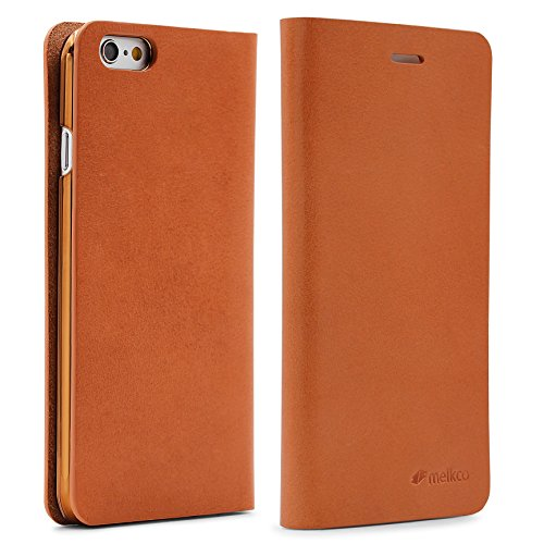 Melkco Apple iPhone 6 / 6s Wallet Cureo in Braun [ Klappbar ] Book-Case Cover Schutz-hülle Smartphone Zubehör Tasche