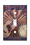 Tri-Cities, Tennessee - Guitar and Banjo Music (Light Switchplate Cover)
