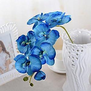 Yantu Artificial Butterfly Orchid Silk Flower Home Wedding Decor Phalaenopsis Bouquet 18