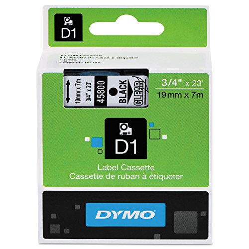 DYMO 45800 D1 Polyester Removable Label Tape, 3/4