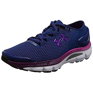 Under Armour Women's UA Speedform Gemini 2 Heron/White/Purple Lights Sneaker 9 B (M)