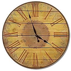 Gizaun Art WSC30 Warm Sunflower Cedar Wall Clock, 30-Inch
