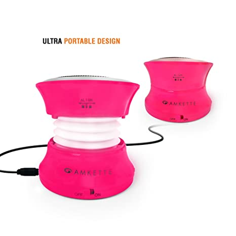 Amkette Trubeats Solo Portable Mobile/Tablet Speaker  Pink,1.0 Channel  Mobile Speakers