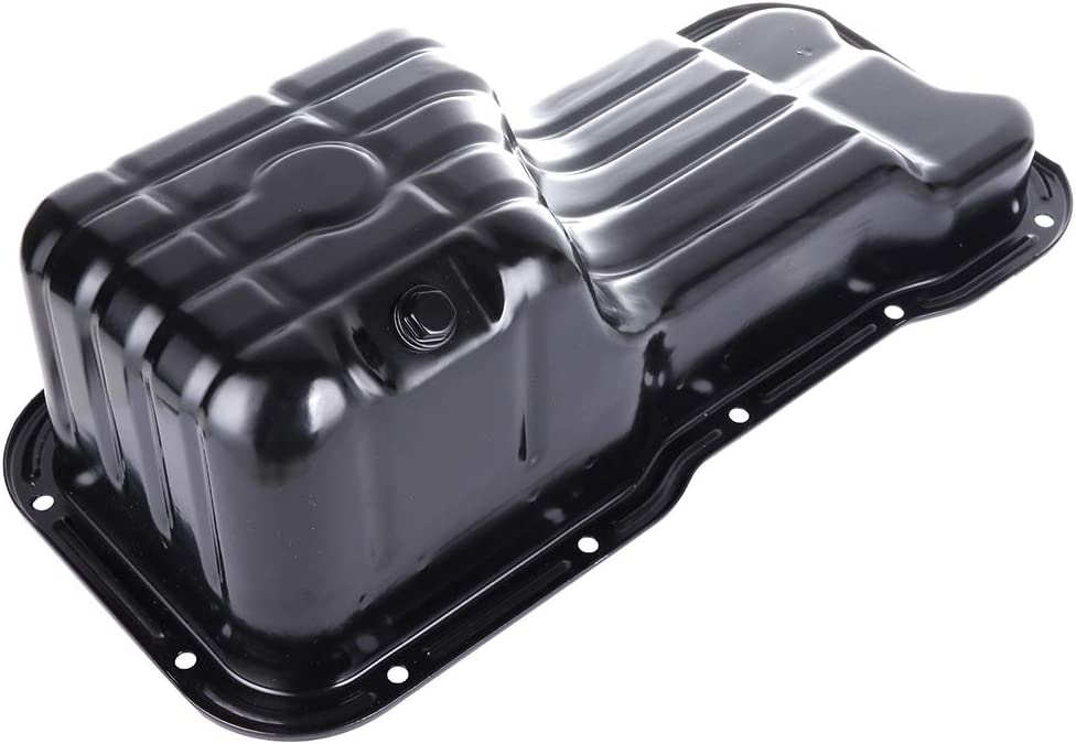 TUPARTS Engine Oil Pan for Nissan 200SX Sentra 95 96 97 98 99 00 01 02 03 04 05 with Engine Oil Drain Pan L4 1.6L 1.8L with OE 264-500 Oil Drip Pan Oil Change Pan