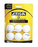 Stiga T1412 1-Star Pack of Six Table Tennis Balls (White)