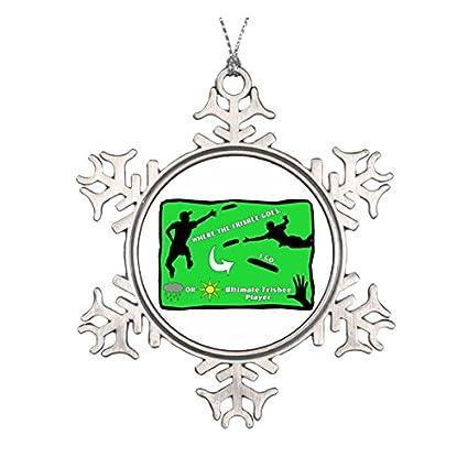 2d605b578171d Amazon.com: Ultimate Frisbee Rain or Shine Ceramic Round Christmas ...