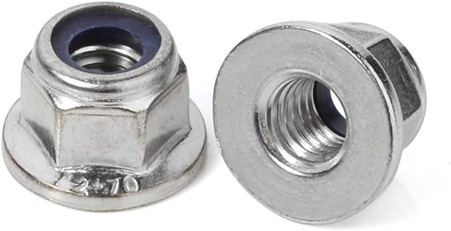 "1//4-20 Nylon Insert Hex Flange Locknuts Nyloc 1//4/""-20 10PCS Stop nut 10"