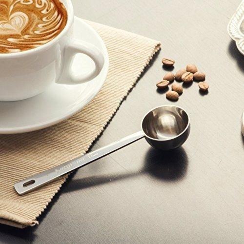 Cuchara de acero inoxidable JJOnlinestore, medidora de café, para especias en polvo, frutas, helado, café (1pieza)
