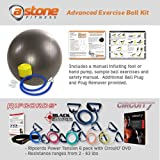 Astone Advanced Exercise Ball Kit: Resistance Exercise Bands, Door Anchor, Manual, Circuit7 DVD, Exercise Ball and Pump Review