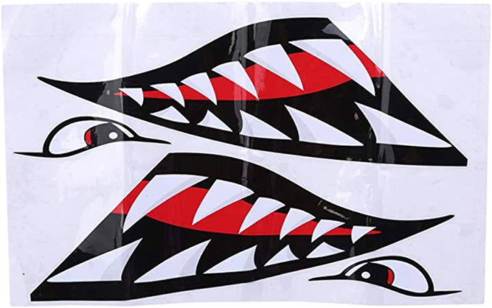 Lot de 2 Requin Stickers-Typographie Decal-Requin Autocollant-Autocollant