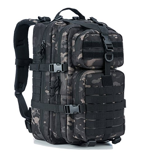 a7cd0654559b REEBOW GEAR Military Tactical Backpack Small Assault Pack Army Molle Bug  Bag Backpacks School Rucksack Daypack Black Camo