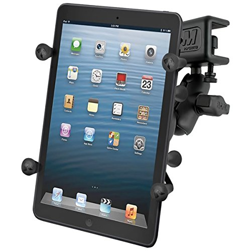 "RAM MOUNTS (RAM-B-177-UN8U Glare Shield Clamp Mount with Universal X-Grip Ii Holder for 7"" Tablets Including The Ipad Mini 1-3"