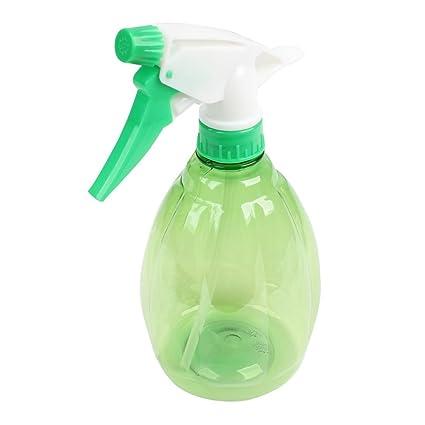 SODIAL(R)Botella de pulverizador de agua de plantas flores de plastico verde claro