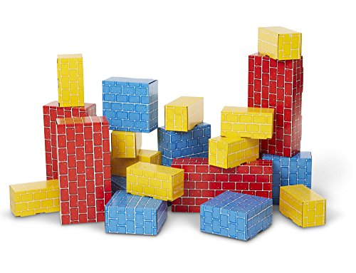 Melissa & Doug Extra-Thick Cardboard Building Blocks - 24 Blocks in 3 Sizes by Melissa & Doug (Image #2)