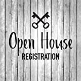 Open House Registration: Real Estate And Realtor Visitor Guest Book And Logbook - Open House Registration Sign In Sheet For Realtors Brokers And ... Vintage White Wood Guest Book Series)