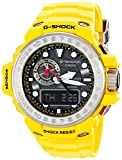 Casio Gulfmaster Smoke Dial Yellow Resin Solar Quartz Men's Watch GWN1000-9A