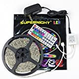 Amazon Price History for:SUPERNIGHT (TM) 5M/16.4 Ft SMD 3528 RGB 300 LED Color Changing Kit with Flexible Strip Light+44 Key IR Remote Control+ Power Supply