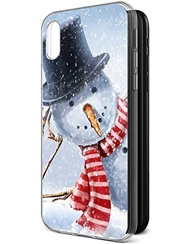 Case for iPhone Xs/iPhone X (iPhone 10) [Drop Protection][Slim Fit] - for iPhone Xs & iPhone X Thinking Snowman