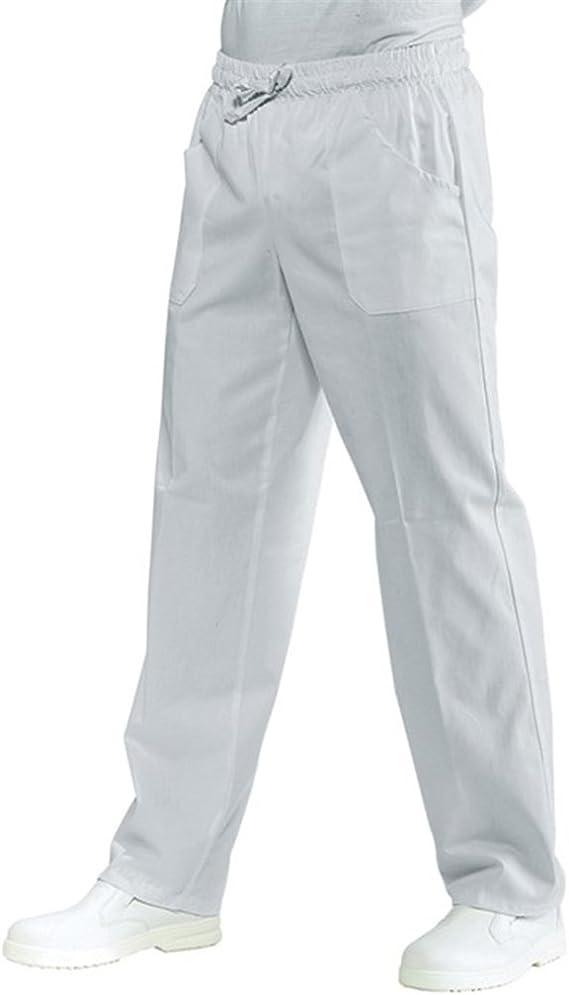 Pantalone Coulisse con Tasche Bianco Cotone 100/%