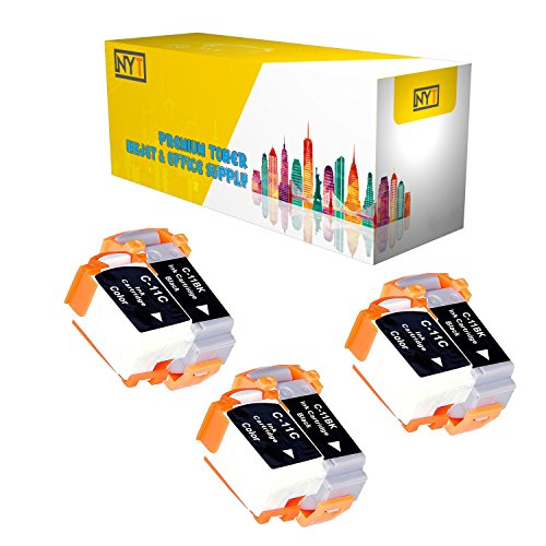 New York Toner New Compatible 6 Pack 3 BCI-11BK Black 3 BCI-11C Color High Yield Inkjet For - BJCAN-70 . -- Black Color ()