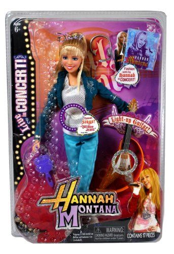 Jakks Pacific Year 2008 Disney TV Series Hannah Montana 11 Inch Doll Set - Live in Concert with Hannah Montana Doll Singing