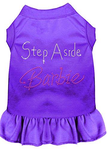 Mirage Pet Products 57-25 XLPR Purple Step Aside Barbie Rhinestone Dress, X-Large