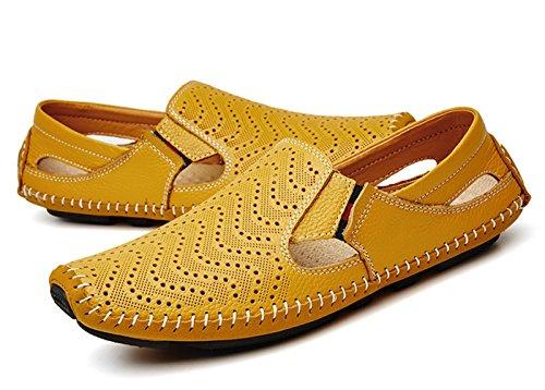 Hombre 46 Casual Plano Loafers Calzado Para Conducción Del Eu Comodidad Zapatos Mocasines Barco Cuero Amarillo 37 Cczz De ZwIAvPqv