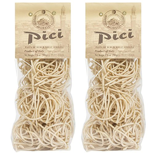 Morelli - Pici di Toscana - Italian Dried Thick Pasta Nests from Tuscany 17.6oz (500g) - Pack of 2