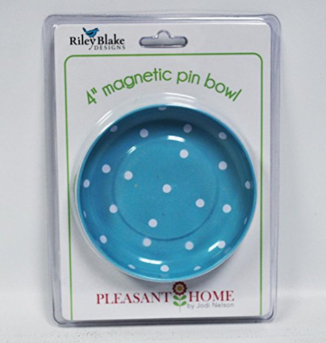 Riley Blake Designs Sew Together by Pleasant Home Magnetic Pin Bowl Gingham Green