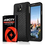 Samsung Galaxy Note 3 Battery/JUBOTY 7200mAh Extended Li-ion Battery & Black Back Cover