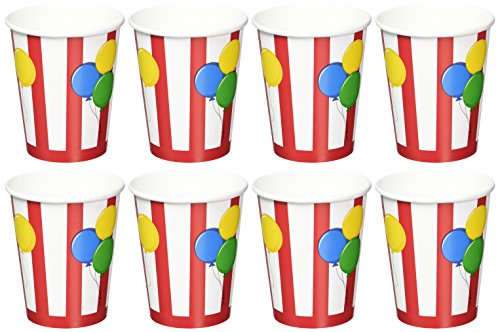 Circus Cups 9 Ounce (Creative Converting Circus Time Hot or Cold Beverage Cups, 8-Count)